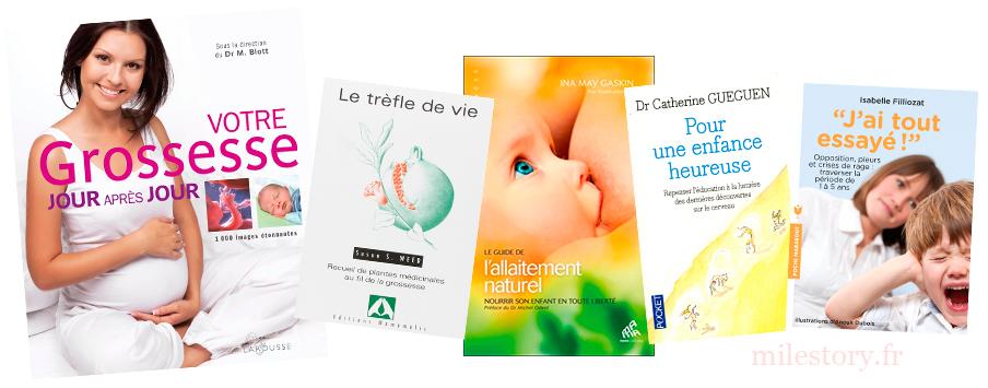 sélection de livres grossesse