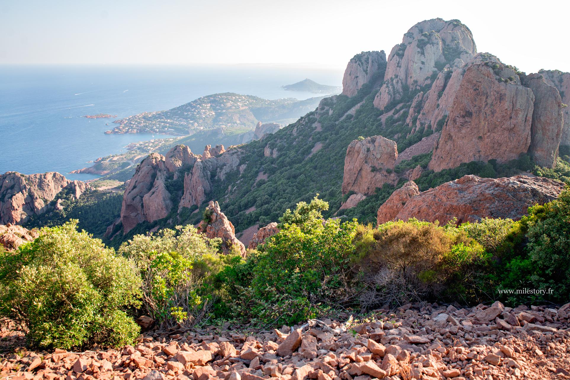 vue panorama sur Saint-Raphaël