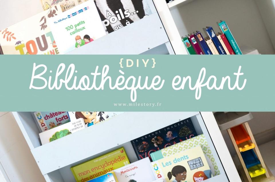 DIY bibliothèque présentoir pour les enfants