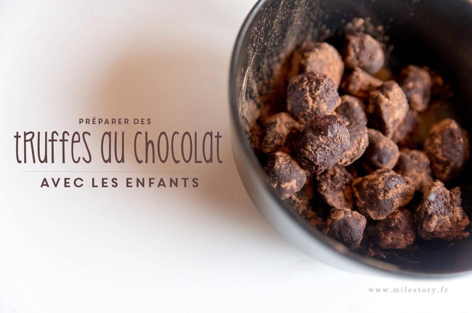 Cuisine de noël avec les enfants : les truffes au chocolat sans oeufs