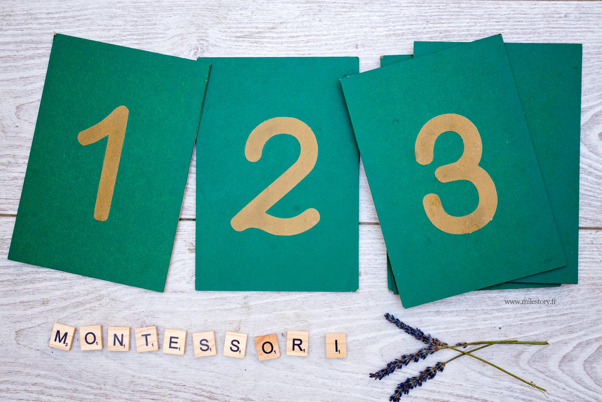 chiffres rugueux montessori
