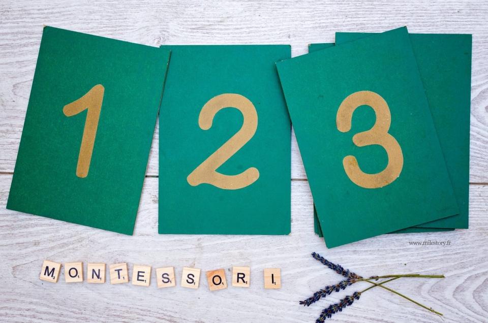 DIY les chiffres rugueux Montessori avec Silhouette Studio