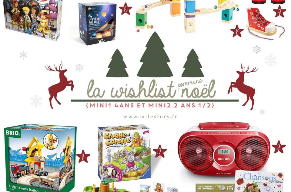 Wishlist Noël 2017 – idées cadeaux enfants de 4 ans et 2 ans et demi