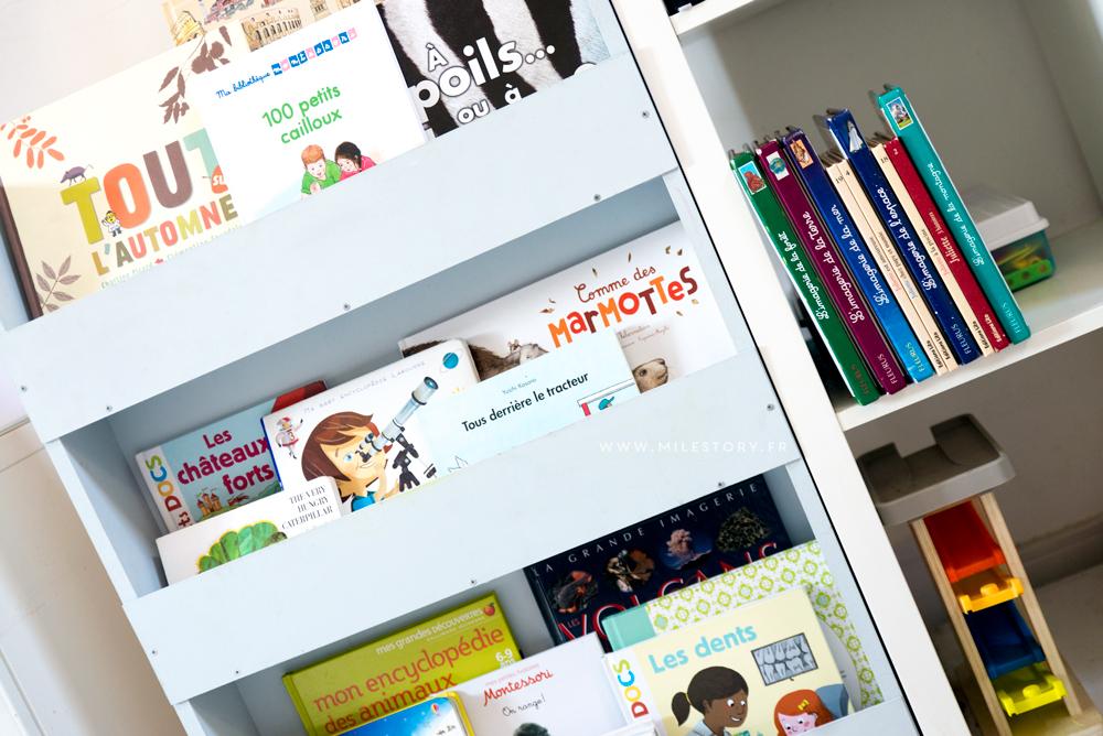 diy biblioth que pr sentoir pour les enfants milestory. Black Bedroom Furniture Sets. Home Design Ideas