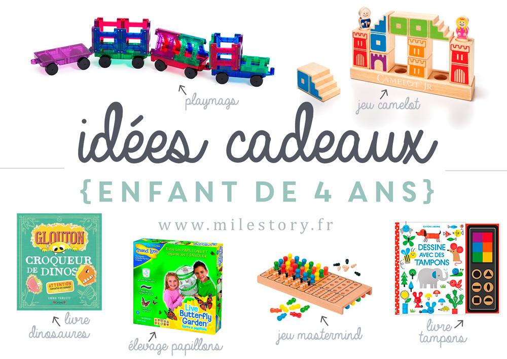Idées cadeaux enfant de 4 ans - Milestory