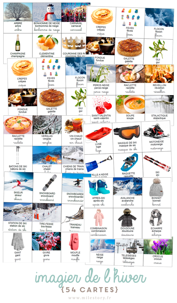 Ief Recap Activites De L Hiver Imagier De L Hiver Livres