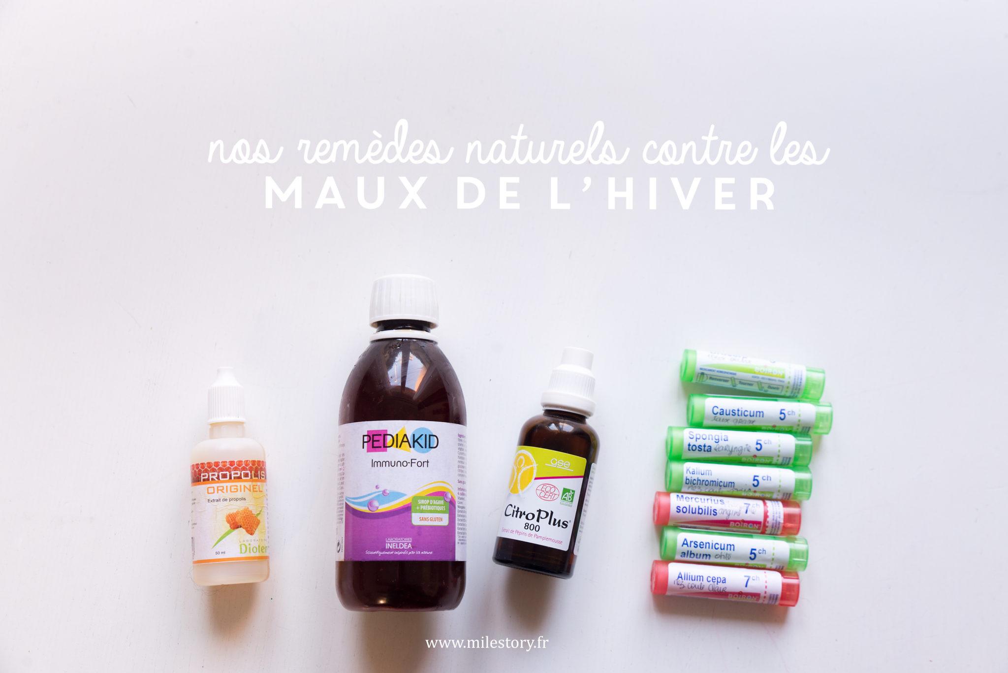 Remèdes naturels pour prévenir et soigner les maux de l'hiver de nos enfants
