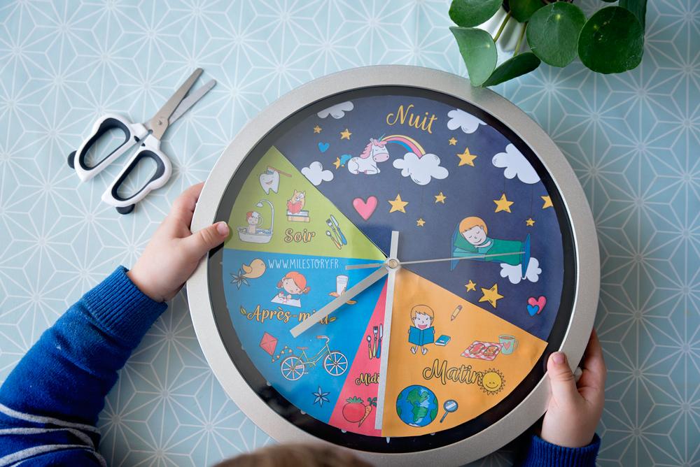 tuto horloge 24 h pour apprendre aux enfants se rep rer. Black Bedroom Furniture Sets. Home Design Ideas