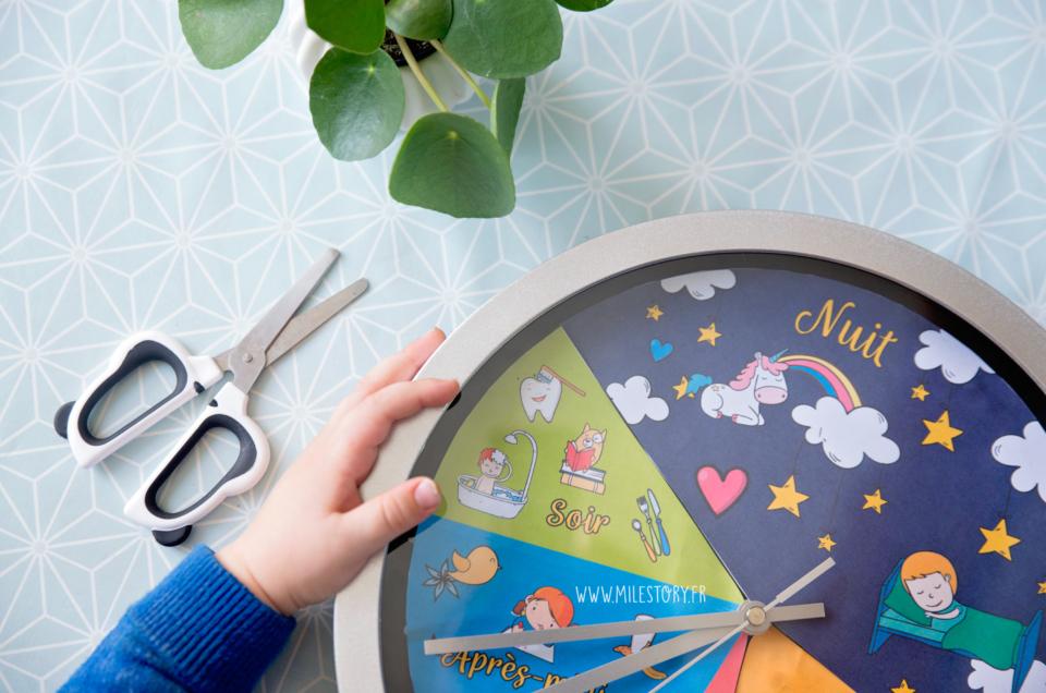 Horloge 24 heures personnalisable pour enfant à télécharger