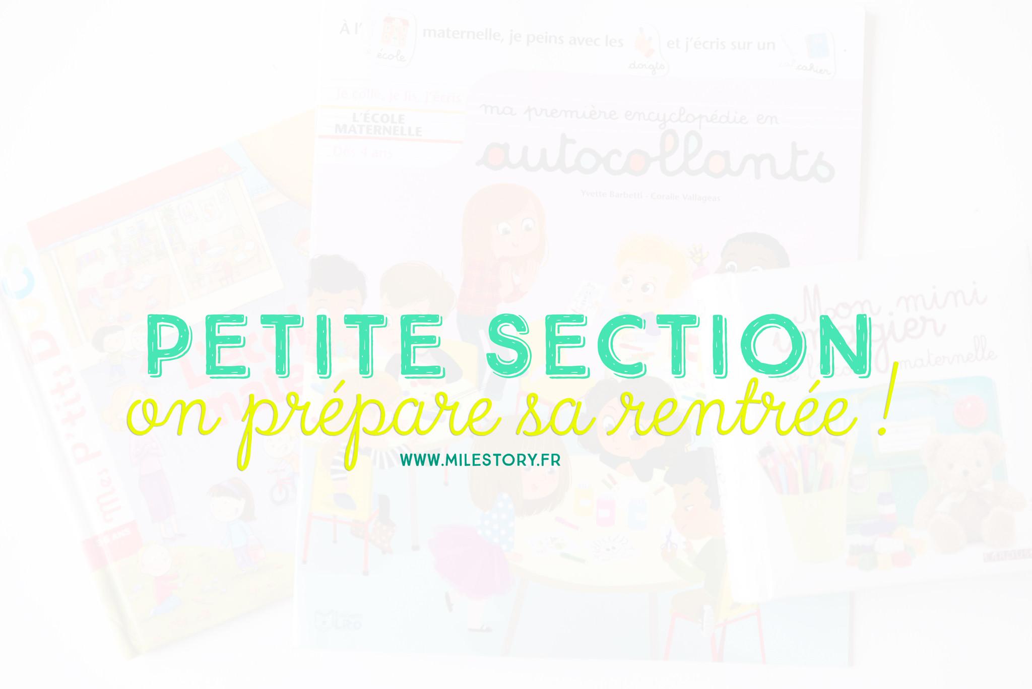 Préparer La Rentrée En Petite Section De Maternelle Milestory