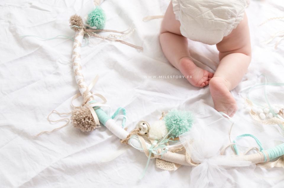 DIY cerceau sensoriel bébé