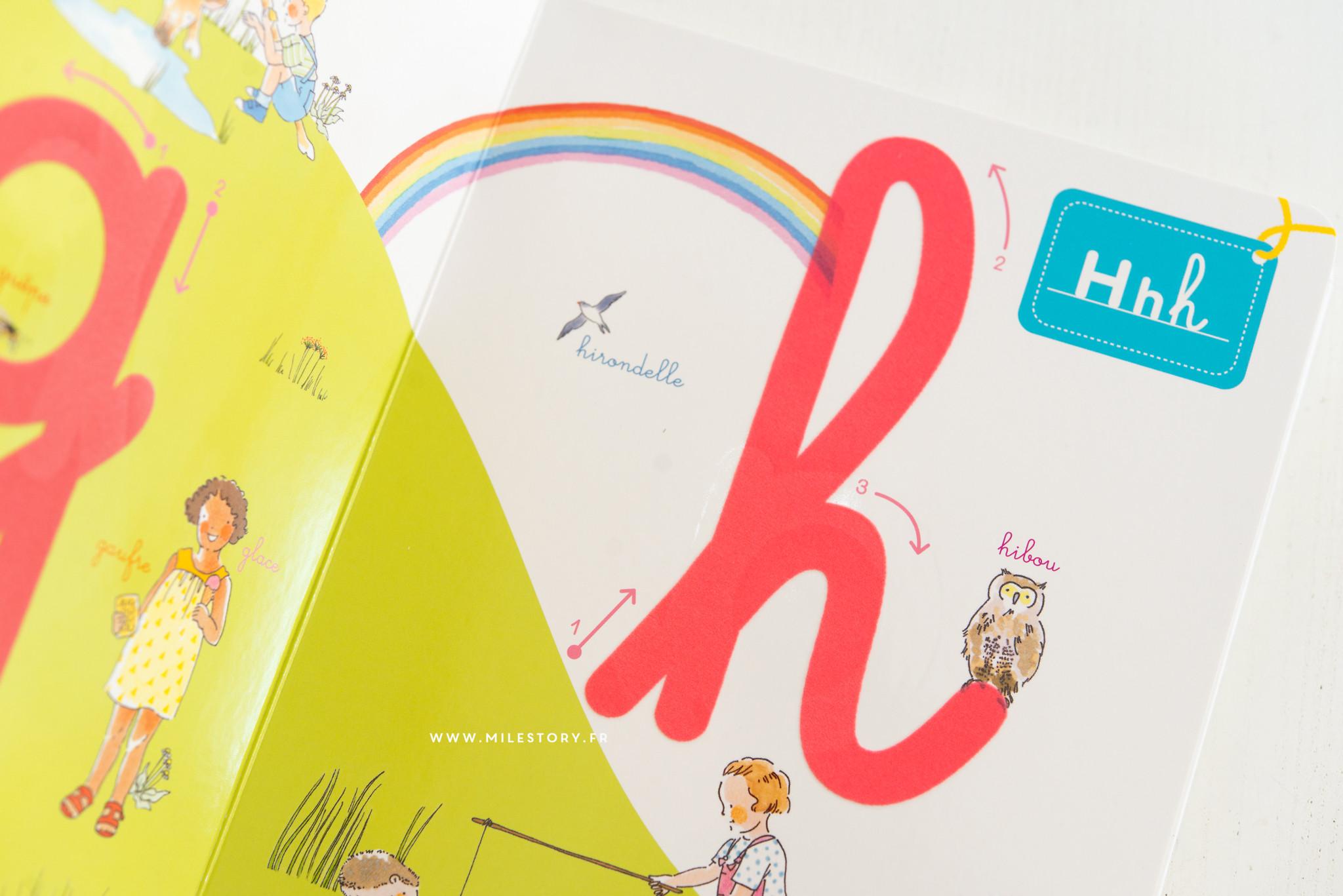 IEF - Lettres rugueuses - livre mon abécédaire à toucher Montessori -  Milestory b28f482427b