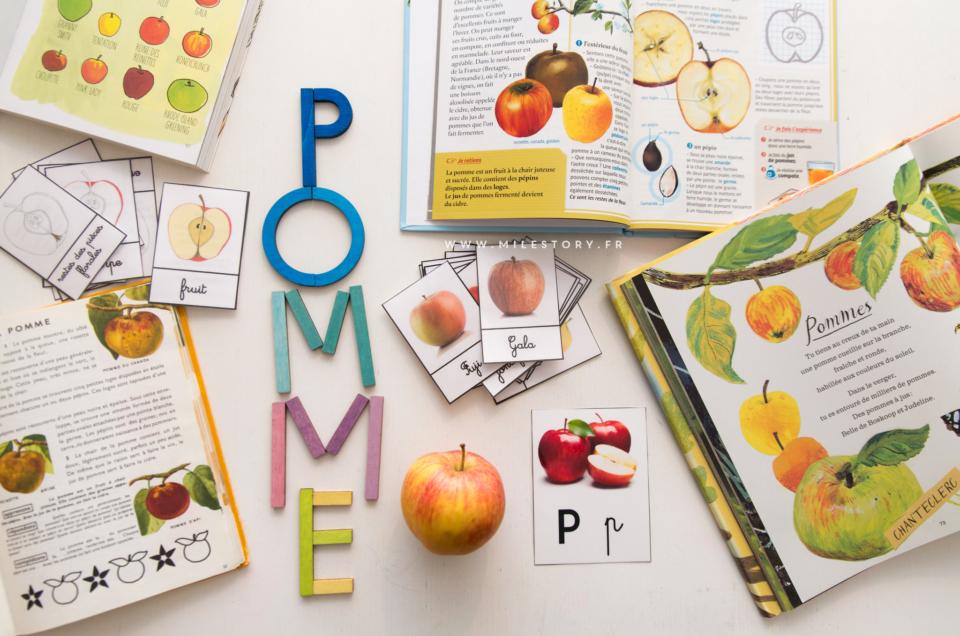 Atelier IEF maternelle – coschooling : Livres et activités sur la pomme