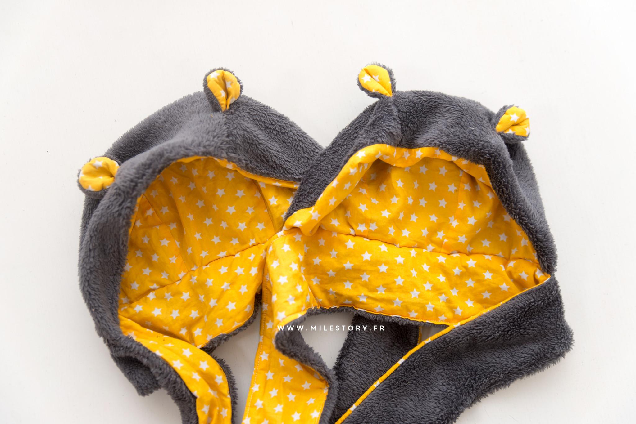 DIY couture   Tuto Bonnet ourson bébé   enfant - Milestory 7e0e075c2c4