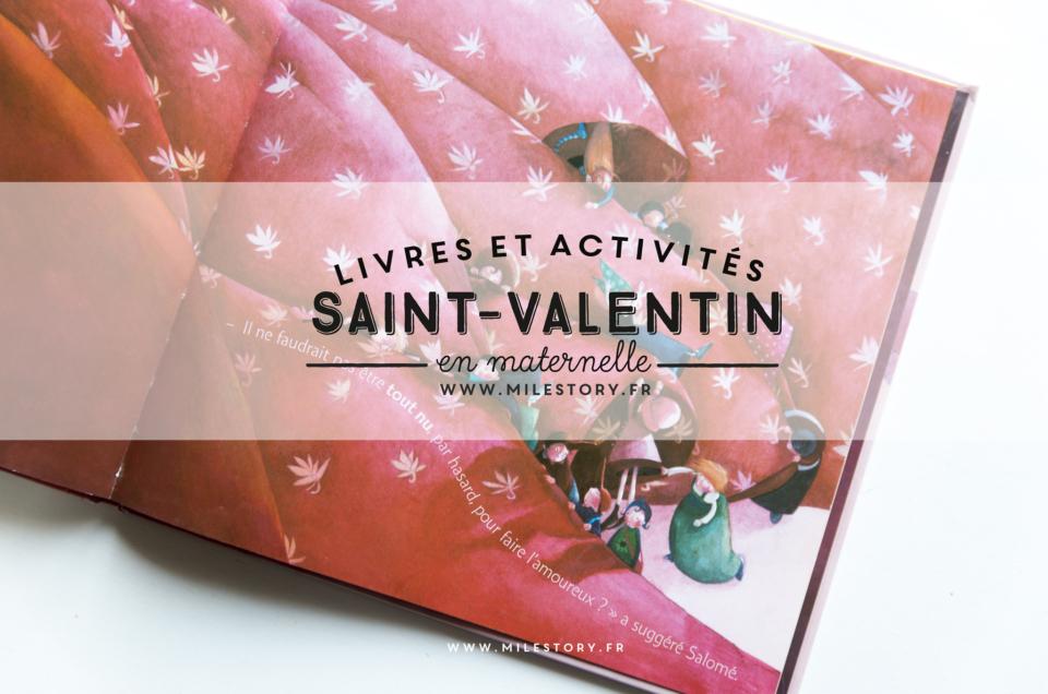 Livres enfants et activités maternelle pour la Saint Valentin