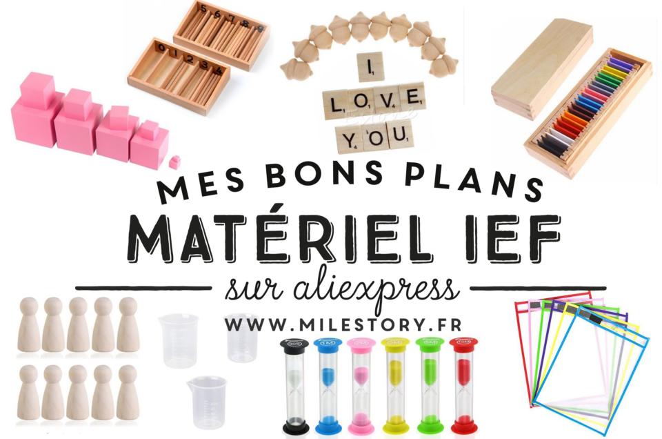 Bons plans : mes achats de matériel montessori et IEF pas chers sur Aliexpress !