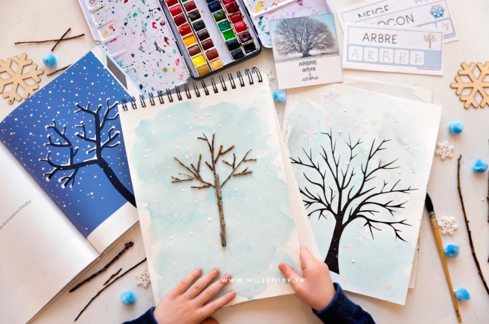 Exploitation album l'arbre et l'hiver en maternelle