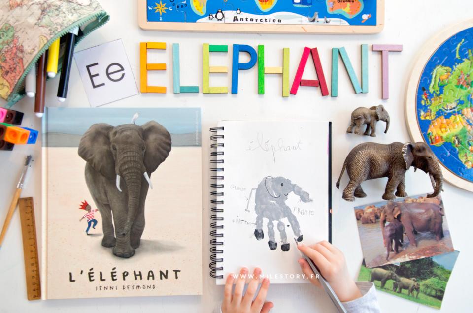 L'éléphant de Jenni Desmond + art visuel et activités éléphant