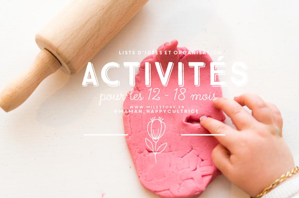 Organisation, jeux et activités pour les bébés de 12 – 18 mois
