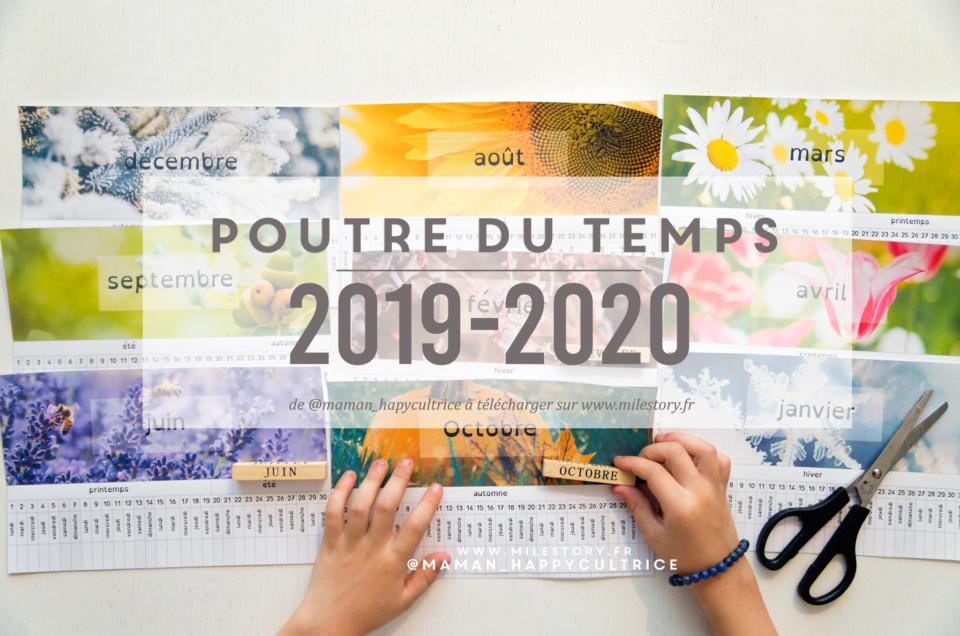 Petite poutre du temps 2019 2020 à imprimer