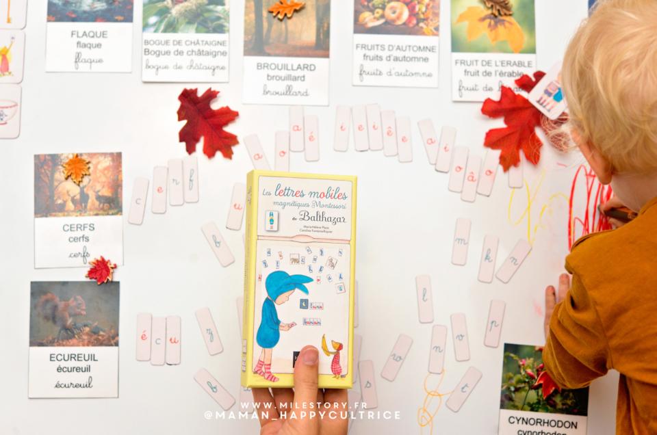 Coffret Les lettres mobiles magnétiques Montessori de Balthazar – Hatier Jeunesse