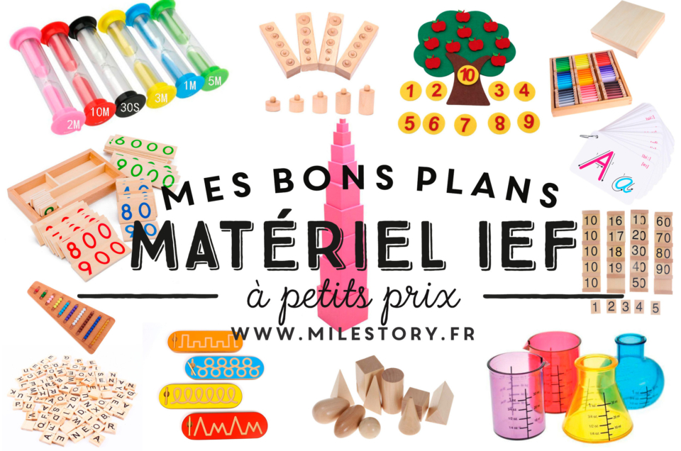 Shopping bon plan : Matériel pédagogique Montessori et dérivés pour l'ief pas chers