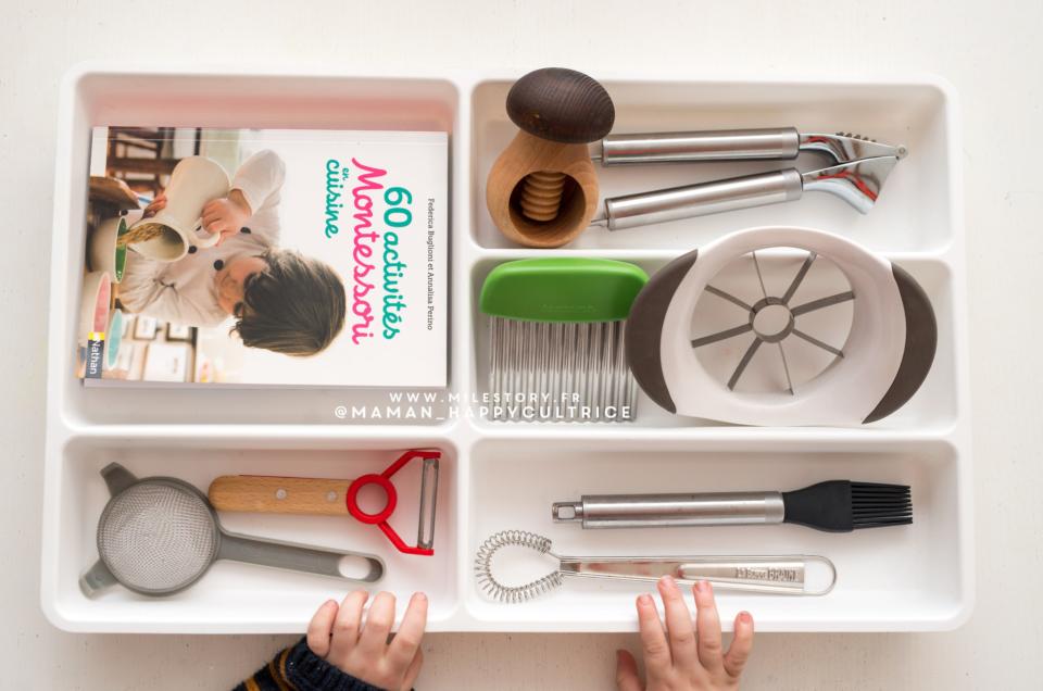 Activités Montessori en cuisine & outils adaptés aux enfants
