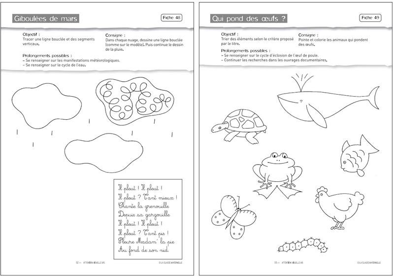 Fiches Moyenne Section Maternelle A Imprimer Milestory