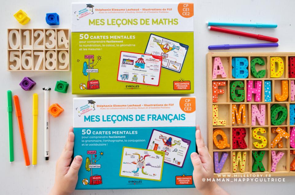 Coffrets cartes mentales CP/CE1/CE2 Maths et français