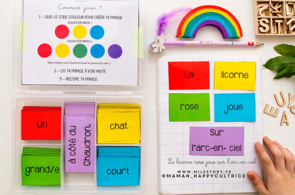 jeu de phrases, jeu d'écriture, ou d'histoires à imprimer – CP