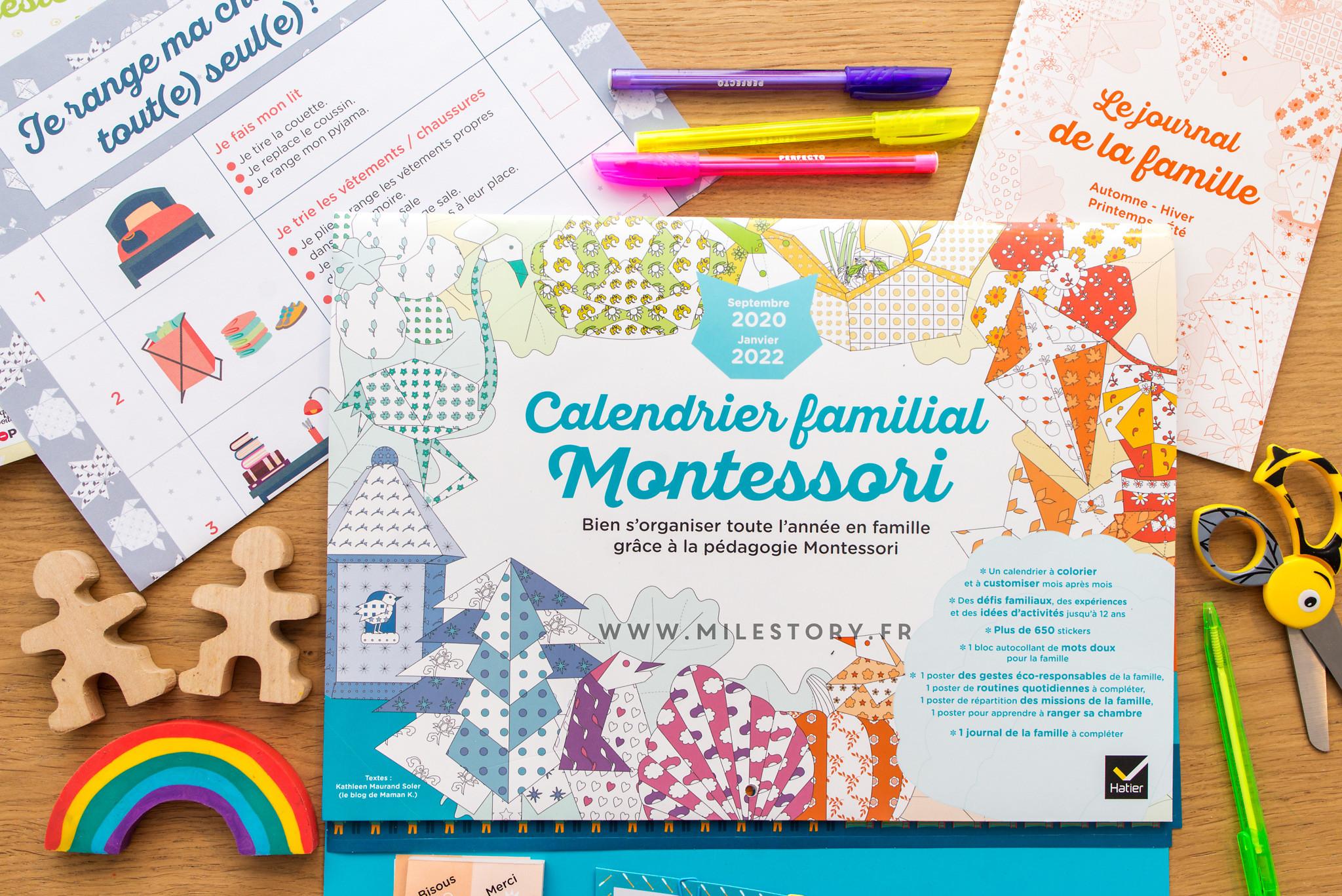 Calendrier familial Montessori 2020 2022   Milestory