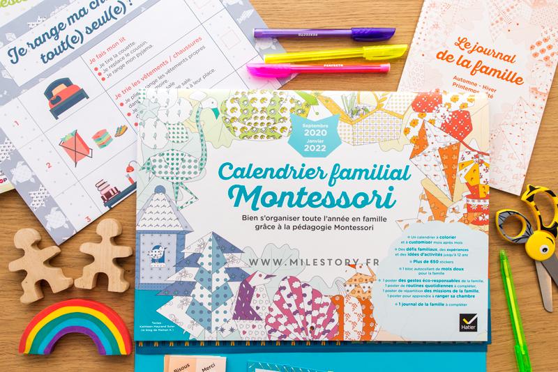 Calendrier Montessori 2022 Calendrier familial Montessori 2020 2022   Milestory fiches