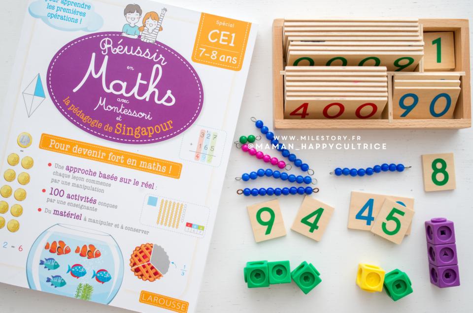 Réussir en maths avec Montessori et la pédagogie de Singapour ce1
