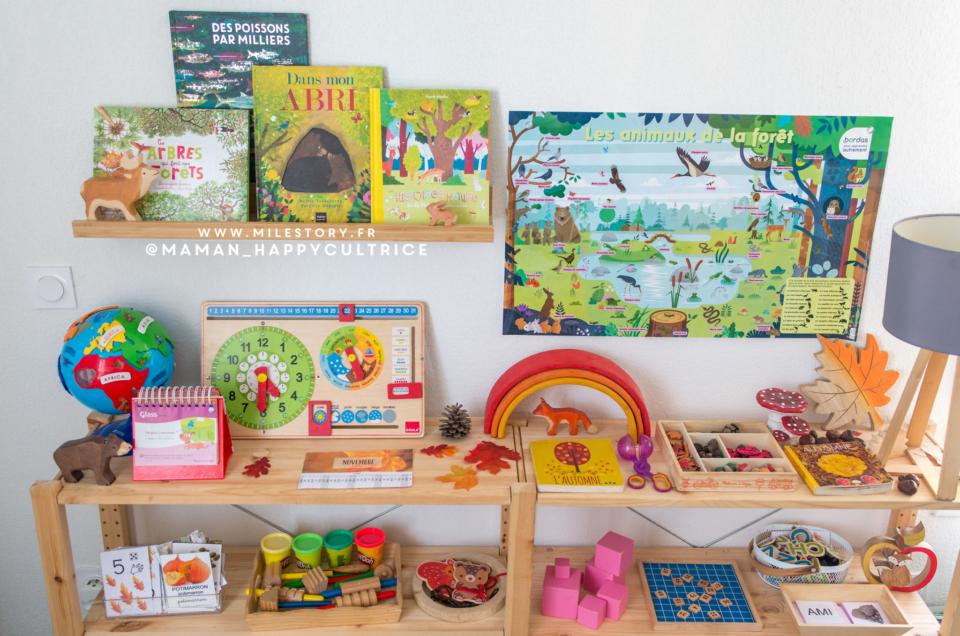 Activités enfants inspiration Montessori Maternelle – automne