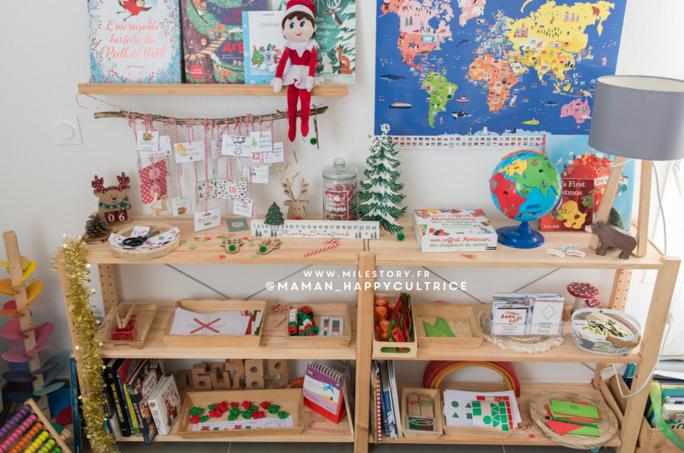 Activités de noël PS, MS GS, CE1 – inspiration Montessori