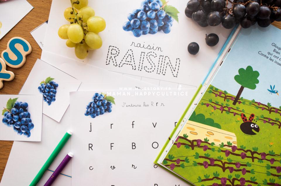 Le raisin en maternelle, cp, ce1, ce2